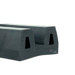 B-fender 50x25 mm sort EPDM - Løpemeter