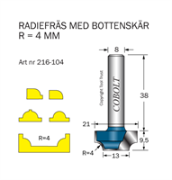 Radiefräs R=4 L=9.5 S=8