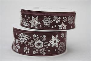Band dusky berry/silver olika bredder