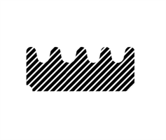 E-profil tetningslist 15x8 mm sort - Løpemeter