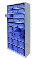 Backskåp 9007 blå  2000x980x400 (silverline)
