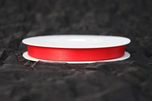 Band 10 mm 25m/r röd satin