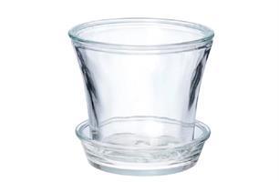 Orkidékruka glas med fat D15cm 12/fp