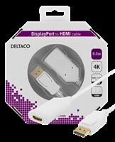 Kabel HDMI - DisplayPort 4K 0,5M