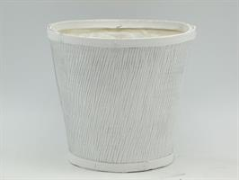 Krukkorg vit/silver D17cm