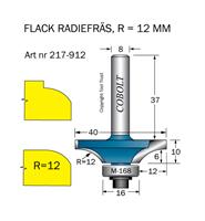 Avrundningsfräs flack R=12 D=40 L=10 S=8
