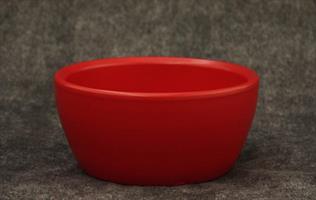 Skål Keramik mattröd D19cm 4/fp