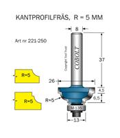 Kantprofilfräs CAVETTO R=5 L=11 F=6.5