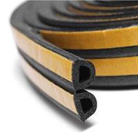 D-profil 12x10 mm EPDM dobbel - Løpemeter