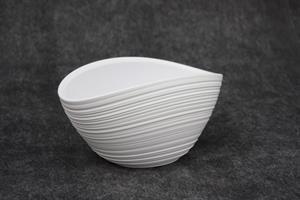 Skål keramik Rille oval 5/fp