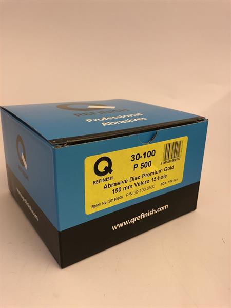 Q-Refinish Premium Gold Sliprondell 150 mm P500/15H, 30-100-0500