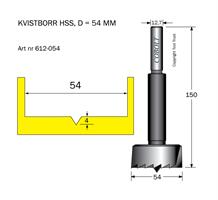 Kvistborr HSS D=54 TL=150 S=12.7