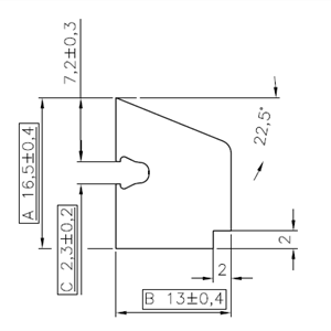 PVC glasslist 13x17 mm hvit m/tettelist - 400 cm