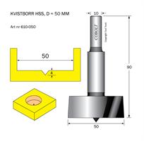 Kvistborr HSS D=50 TL=90 S=10