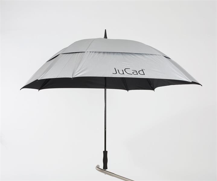 JuCad Stormparaply Teleskopiskt, Silver