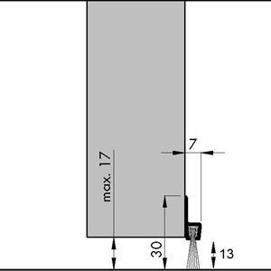 Børstelist 30 mm x 125 cm
