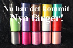 Presentsnöre poly 10 mm olika färger