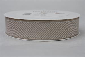 Band 25 mm 20 m/r fiskben vit/linne/silver