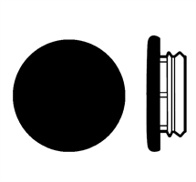 Karmplugg 12 mm Sort - 16 stk