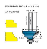 Kantprofilfräs R=3.2 L=14.6 F=9.5
