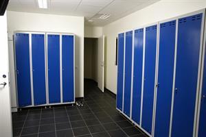 Klädskåp 2- dörr med hylla+hängare blå/grå