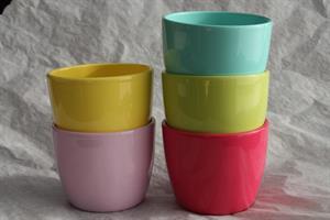 Krukor Färgade D11cm olika färger