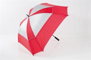 JuCad Stormparaply Teleskopiskt, Röd