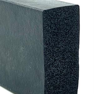Lukepakning 100x50 mm Sort EPDM svamp - Løpemeter