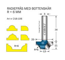 Radiefräs R=6 L=11 S=8