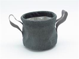 Textilkruka grå 16,5 cm 12/fp