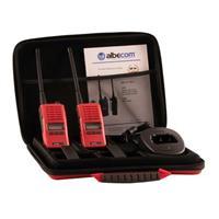 Radiopaket ALBE X5-140/155mhz.LCD.Röd.2st Radio+2st Batteri