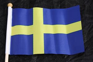 Flagga Sverige 10x15cm 12/fp