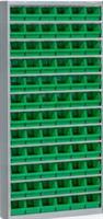 Backskåp inklusive 72 st Plastbackar grön