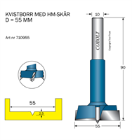 HM Kvistborr D=55 TL=90 S=10