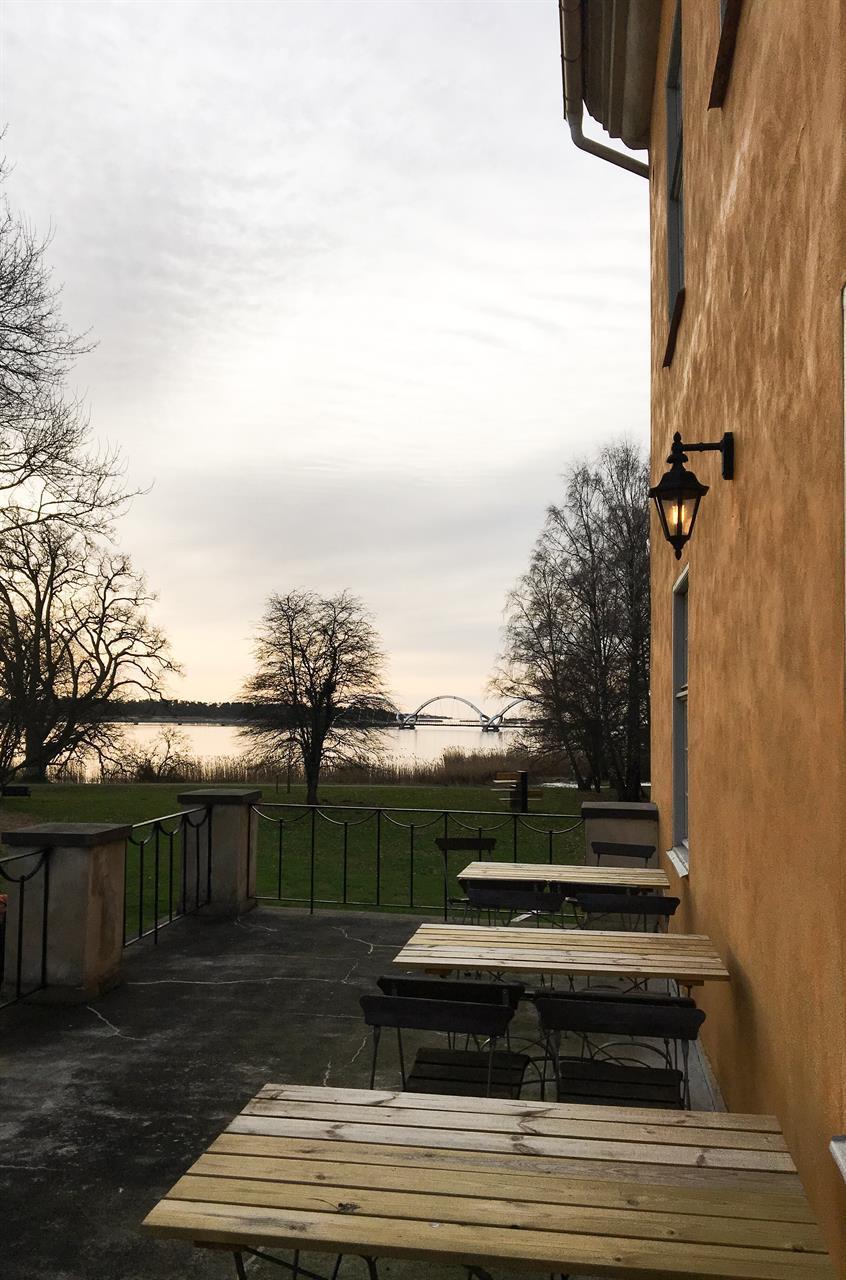 Utsikt terass, slottet
