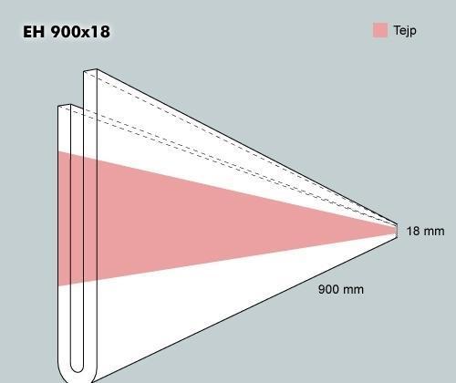 Etiketth. EH 900-18F rak tejp