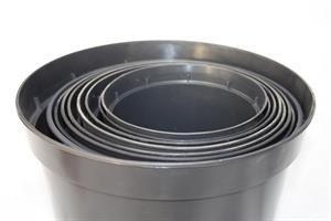 Kruka kont svartplast 1,3L till 50L