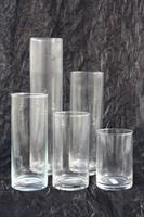 Glasvas cylinder diameter 10cm olika höjd