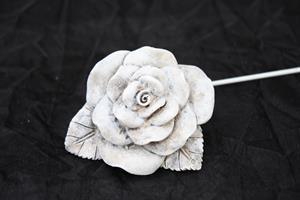 Ros grå 6x6cm på pinne 8/fp