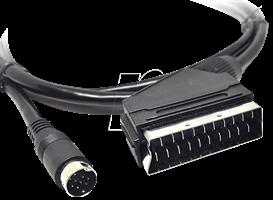 Kabel mini din- scart 5m