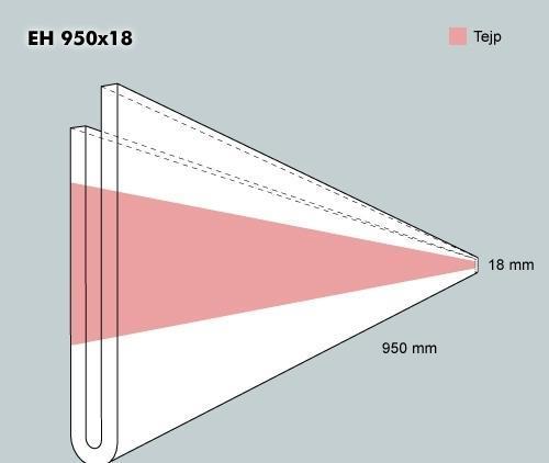 Etiketth. EH 950-18F rak tejp