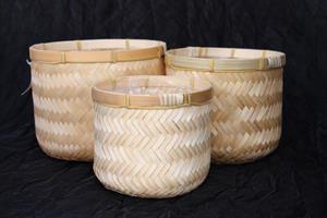 Korg krukmodell bambu 3set
