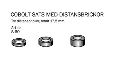 Sats 3 st Distanser D=16mm