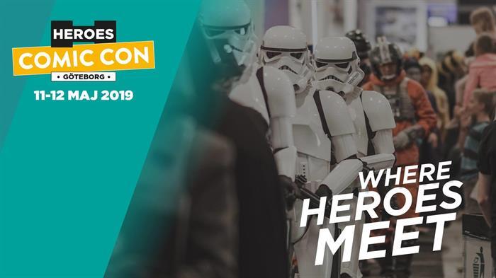Vi är med på Comic Con, Åby Mässan, 11-12 maj!