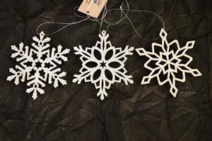 Snöflinga med hänge guld 9/fp