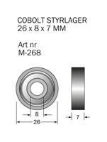 M-268 Kullager 26 x 8 x 7 mm