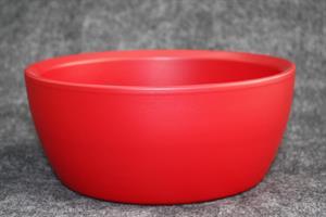 Skål Keramik mattröd D23cm 2/fp