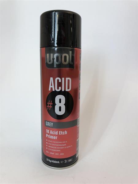 U-Pol 1K Acid Etch Primer 450ml, ACID#8