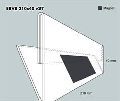 Etiketthållare EBVB 210-40F vinklad 27°