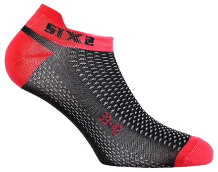 SIXS - No-Show Socks - Red
